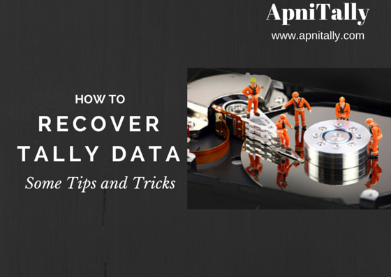How you can recover Tally data if you have problem while
