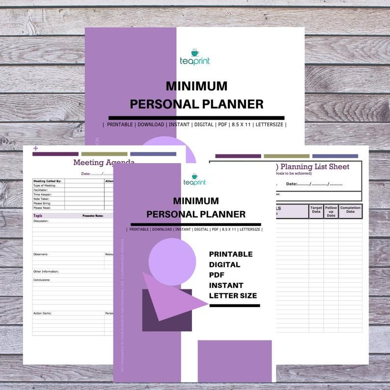 This item is unavailable Personal planner, Business