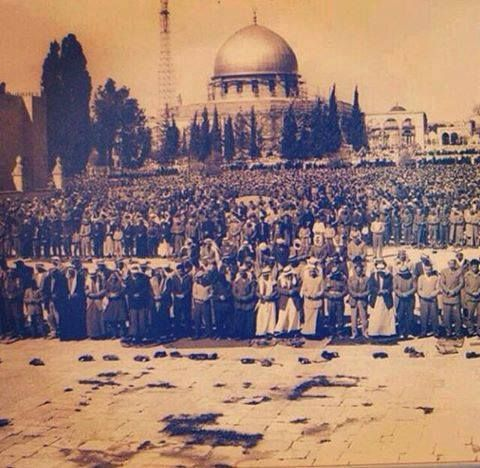 Jerusalem An Old Picture Of The Courtyards Of Masjid Al Aqsa In