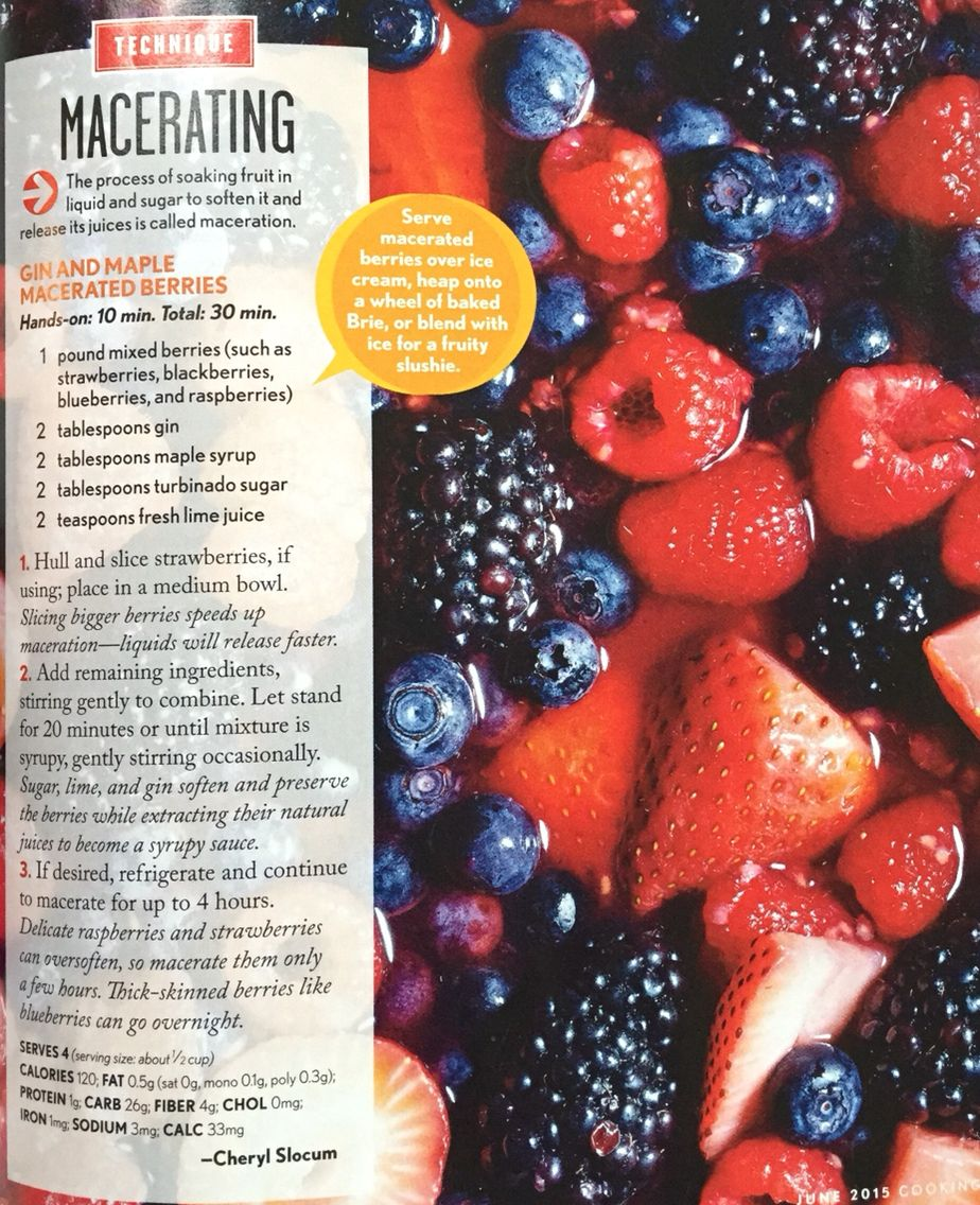 Macerating Fruit Mixed Berries Slushies Fruity