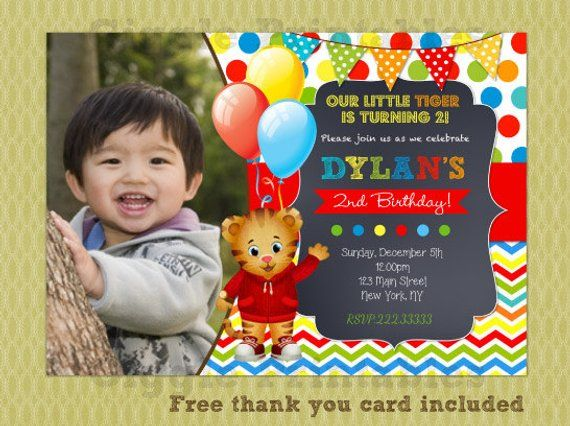 Daniel Tiger Invitation Birthday Invitations Party Invite Printables Diy Prin
