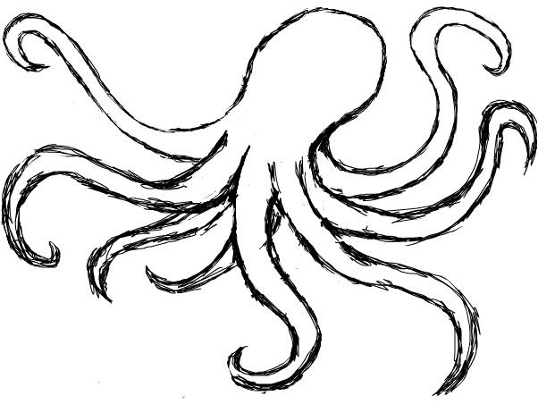 Gallery For > Simple Octopus Drawing | image | Pinterest | De ...