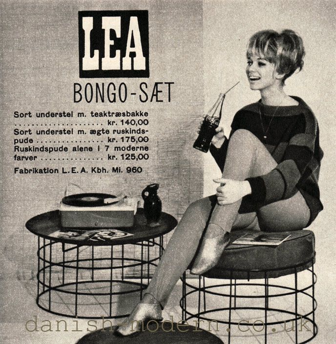 Bongo Stool And Table Set By LEA 1963