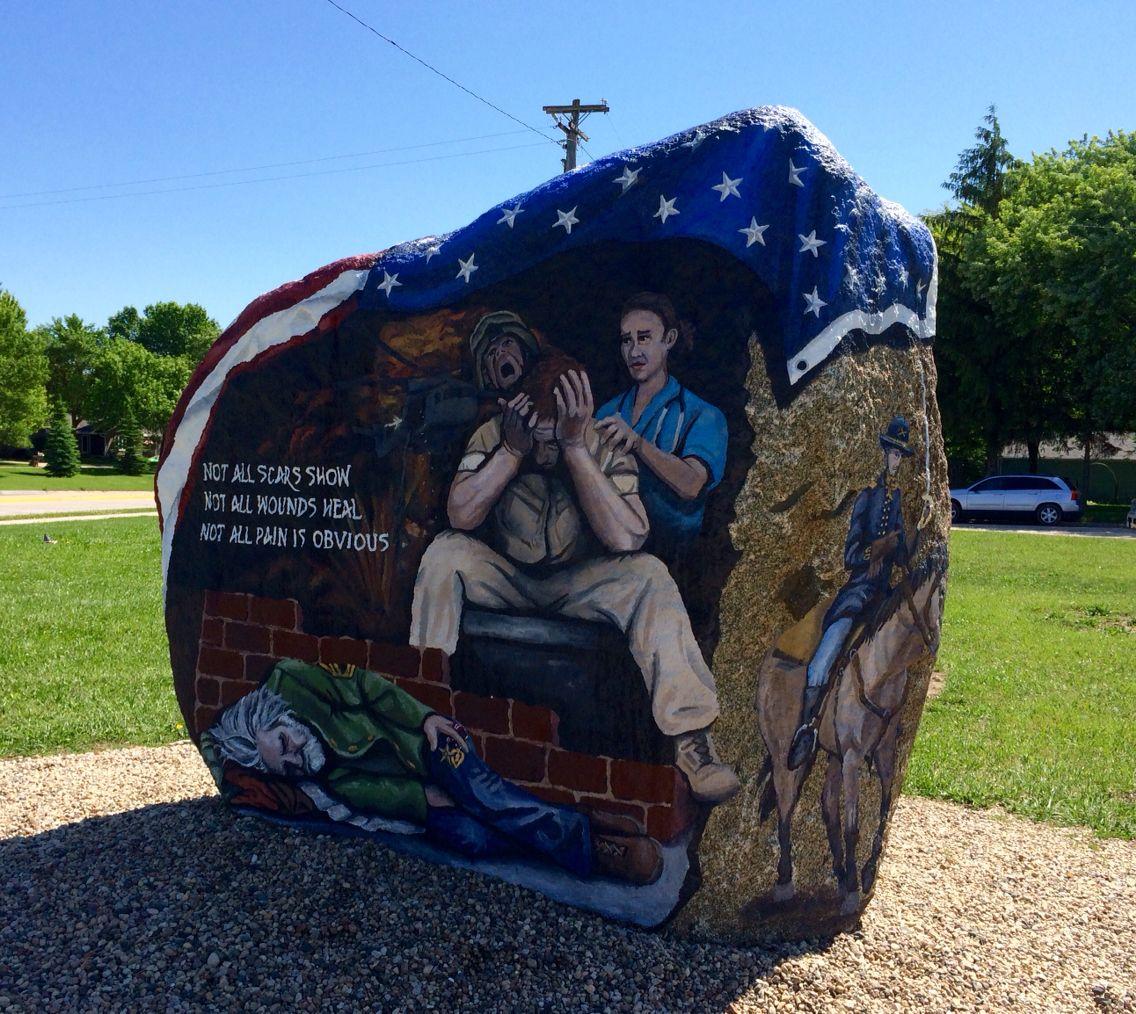 Webster County Iowa S Freedom Rock By Bubba Sorenson 29may16 Iowa Rock Freedom
