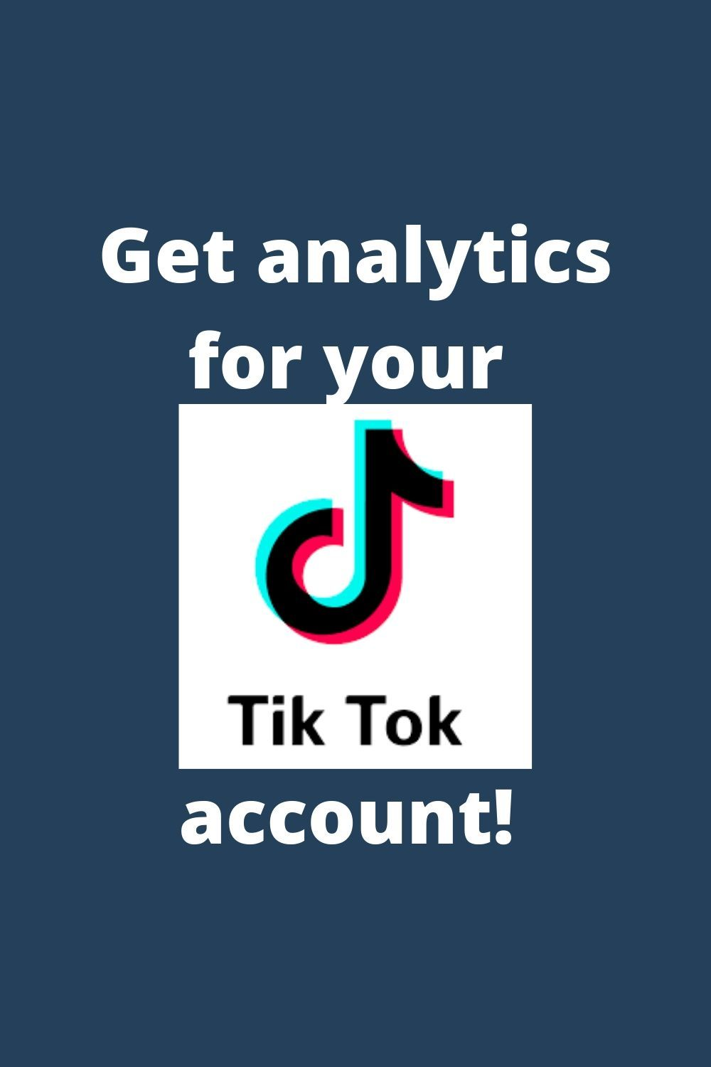 How To Get Analytics From Your Tiktok Account Marketing Strategy Template Social Media Marketing Instagram Marketing Strategy Social Media