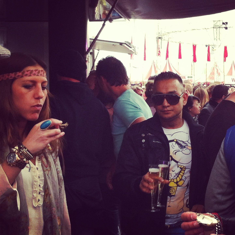 Oesters op een festival Festivalfood 2.0 Amsterdam