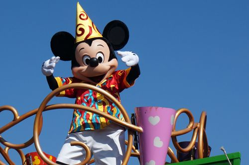 MyDisneyExperience can show you times for parades