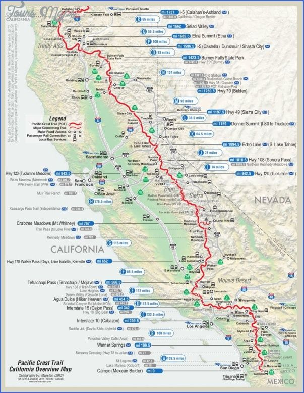 cool PACIFIC CREST TRAIL MAP OREGON | Tours Maps in 2019 | Pacific on