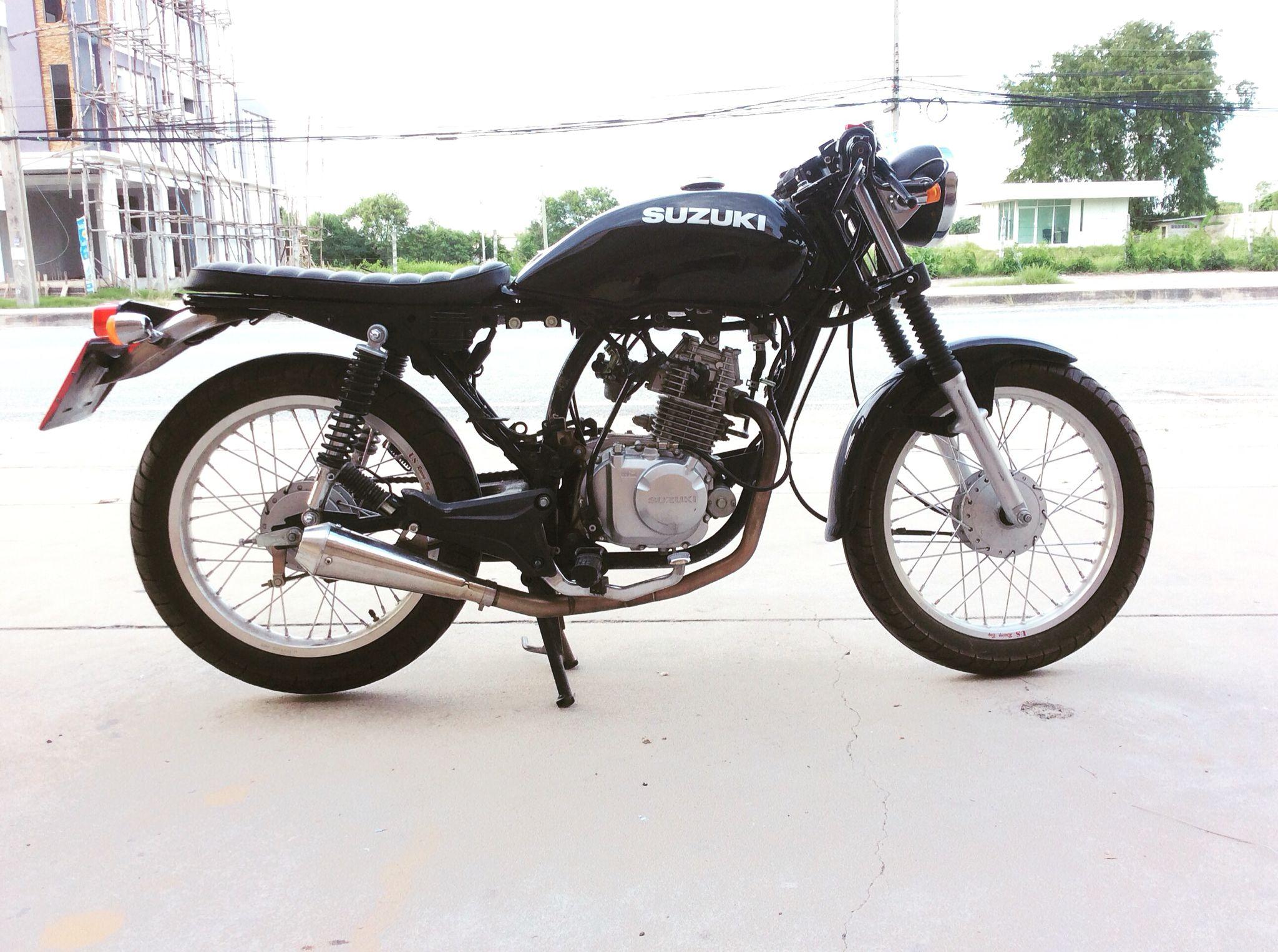 A Small Suzuki GD110HU AX4 Brat Cafe Racer | Motorcycles | Suzuki