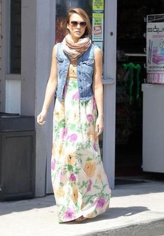 Apple blossom maxi dress
