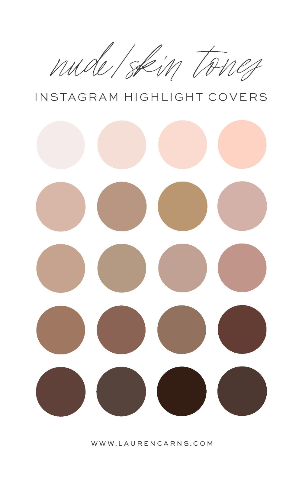 Warm Nude Skin Tones Instagram Story Highlight Ico