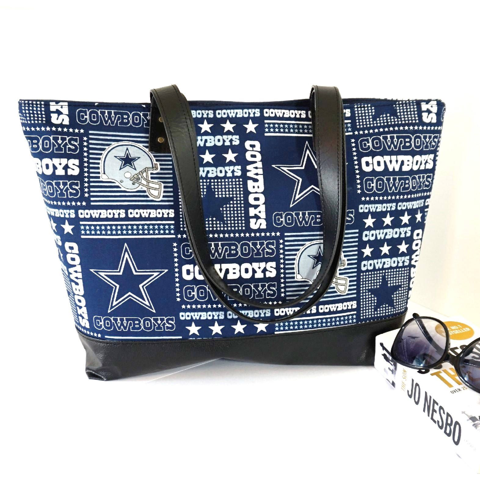 Dallas Cowboys NFL Vegan Leather Tote Purse, Dallas Cowboys Tote ...