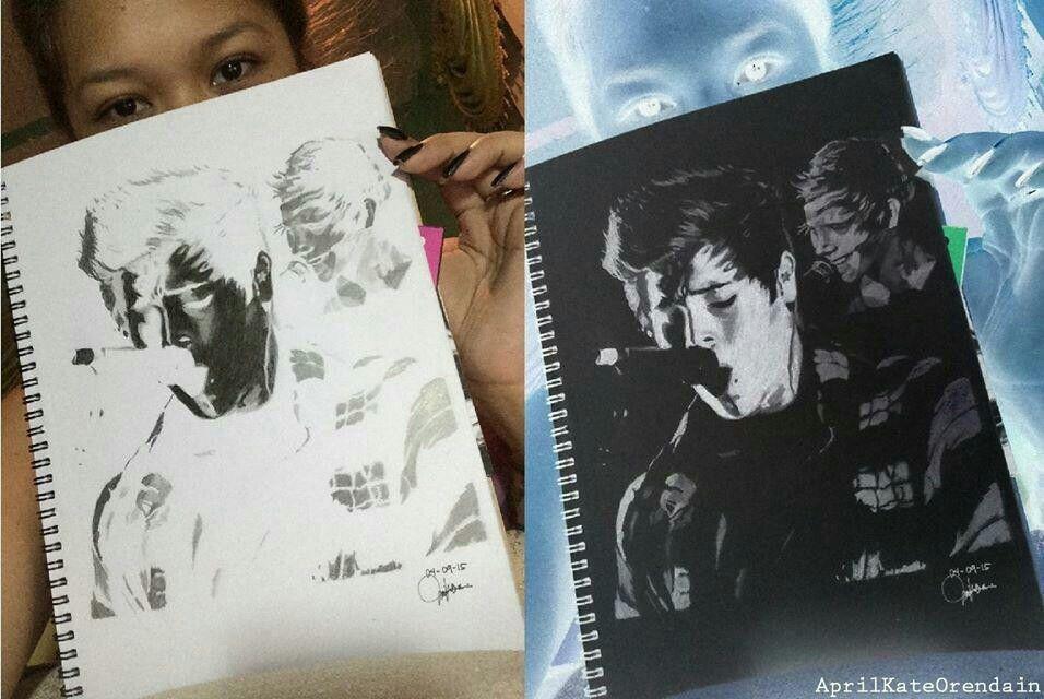 luke hemmings beautiful drawing made by biebermycreeper