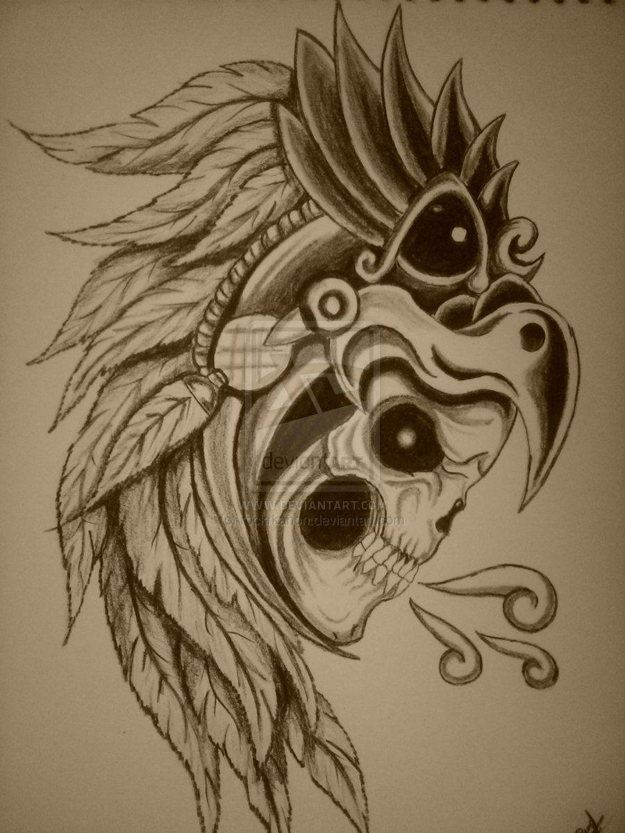 Displaying 19 - Aztec Eagle Warrior Skull
