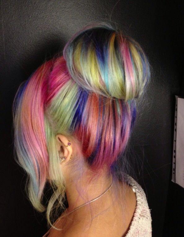 El arcoiris en el cabello... Marianita se vería hermosa