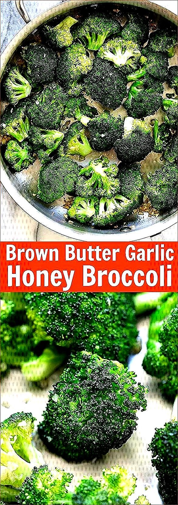 Brown Butter Garlic Honey Broccoli - Dress up easy roasted broccoli,