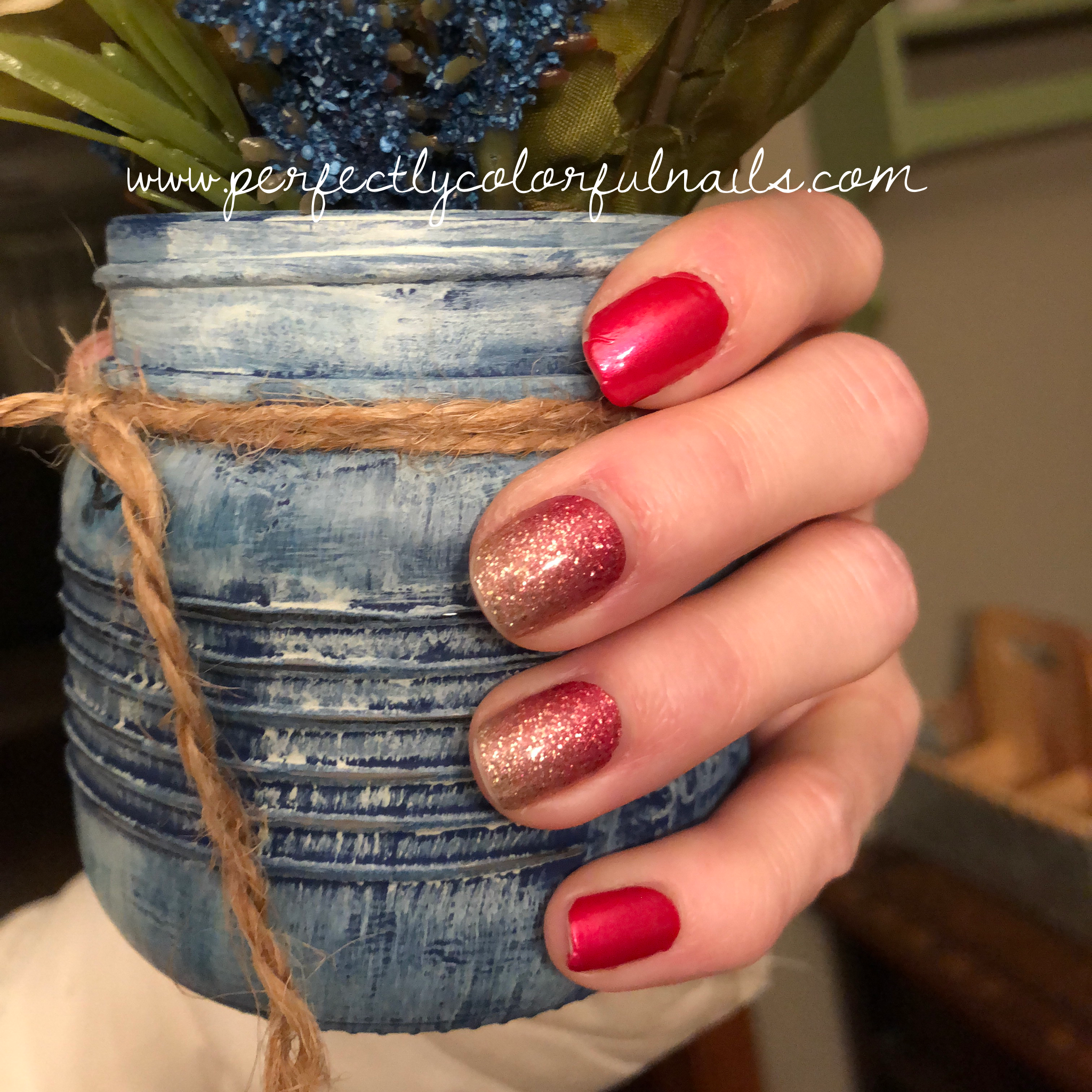 color street nails coral bay with miami beach accents