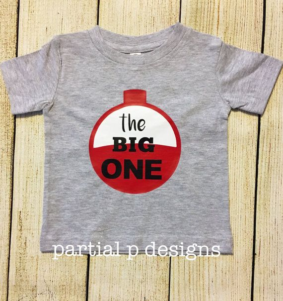 Fishing Theme The Big ONE First Birthday Shirt Baby Boy 1st