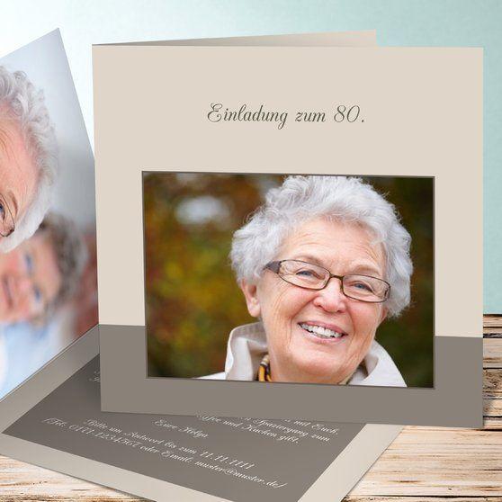 Einladungen 30 Geburtstag Selbst Gestalten: Einladungskarten 80. Geburtstag