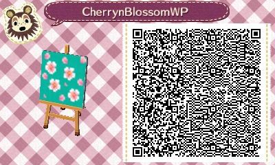 Pekoecrossingg Made A Little Cherry Blossom Pattern Makes Cute