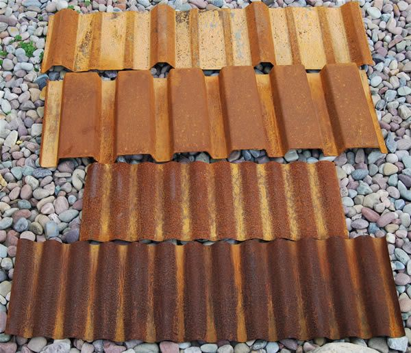 Corrugated Metal Roof Samples Corten Steel Corrugated Metal Roof Corten