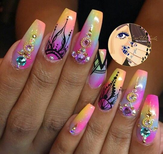 Love the design on these nails - Pin By Taquita Reynolds On Nail Inspiration Pinterest Ratchet