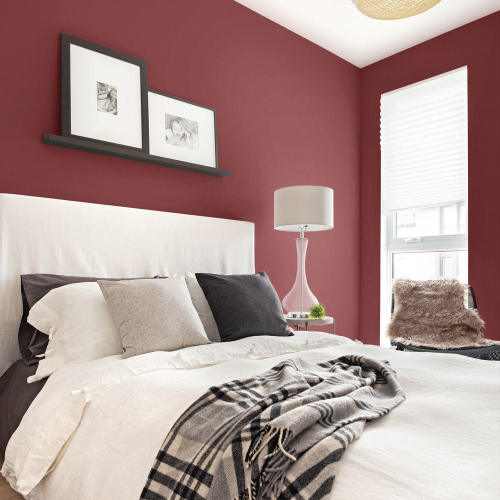 Rouge Dans Une Chambre peinture: un rouge raffiné pour la chambre - je décore