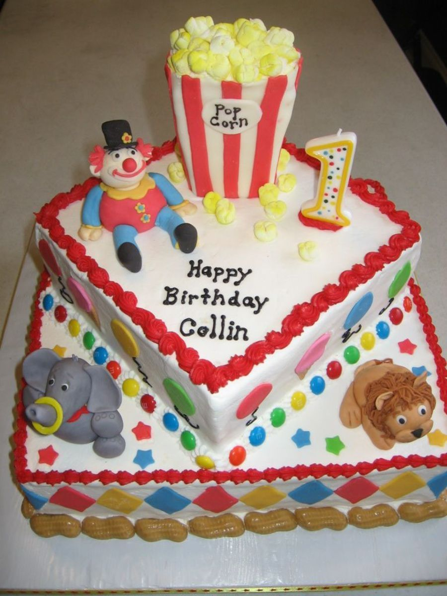Circus Cake First Birthday