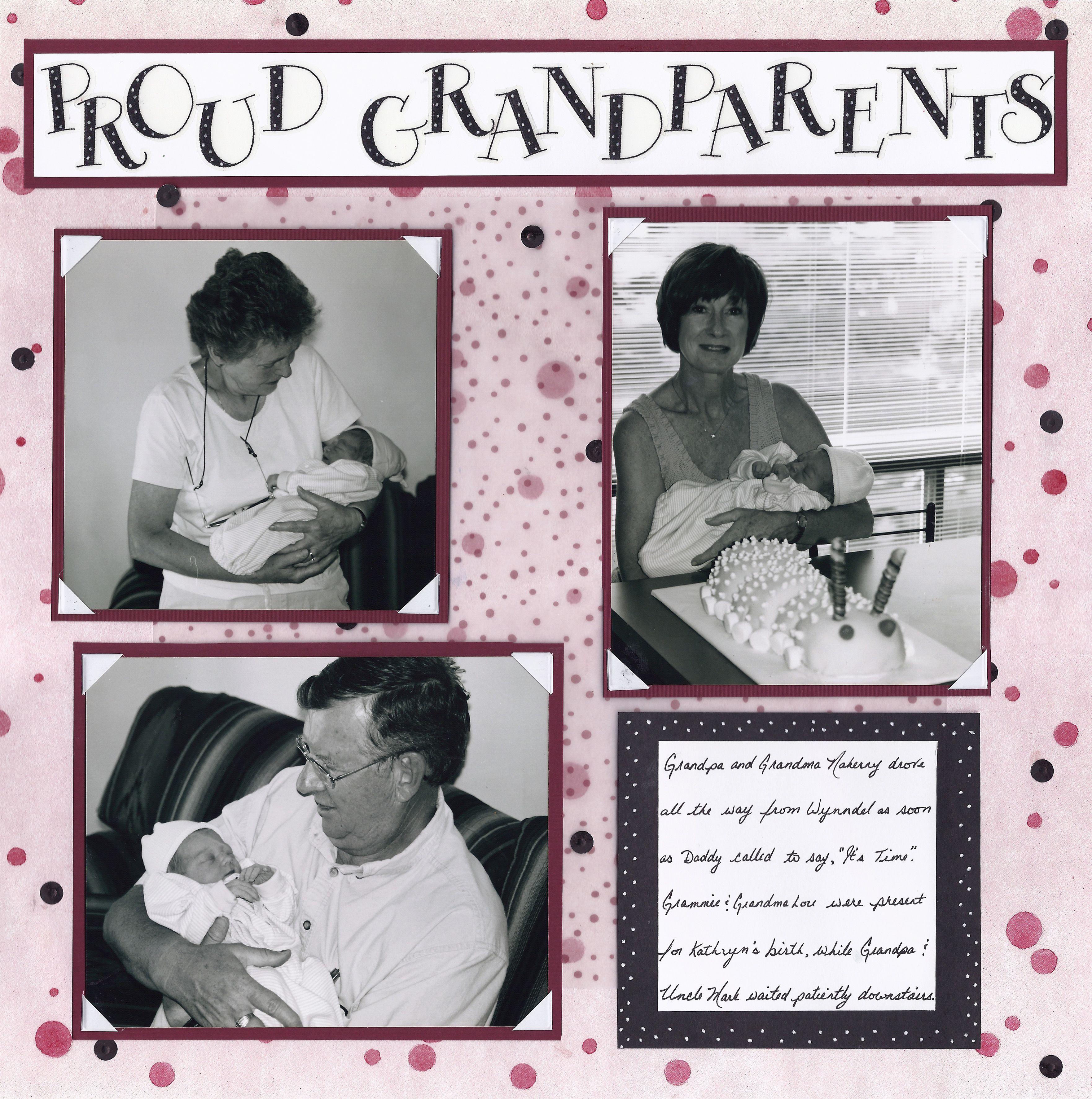 Scrapbook ideas grandma - Grandparent Idea For The Boy S Baby Book