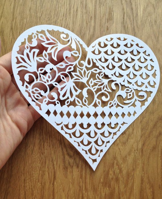 Pattern heart papercutting template to for Beautiful paper cutting art