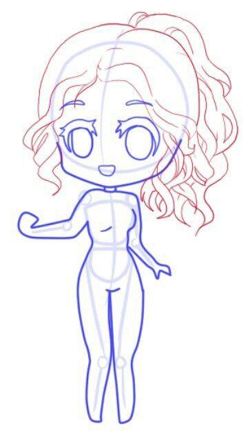 Drawing Chibi Bodies : drawing, chibi, bodies, Chibi, Drawings,, Anime, Drawings, Tutorials