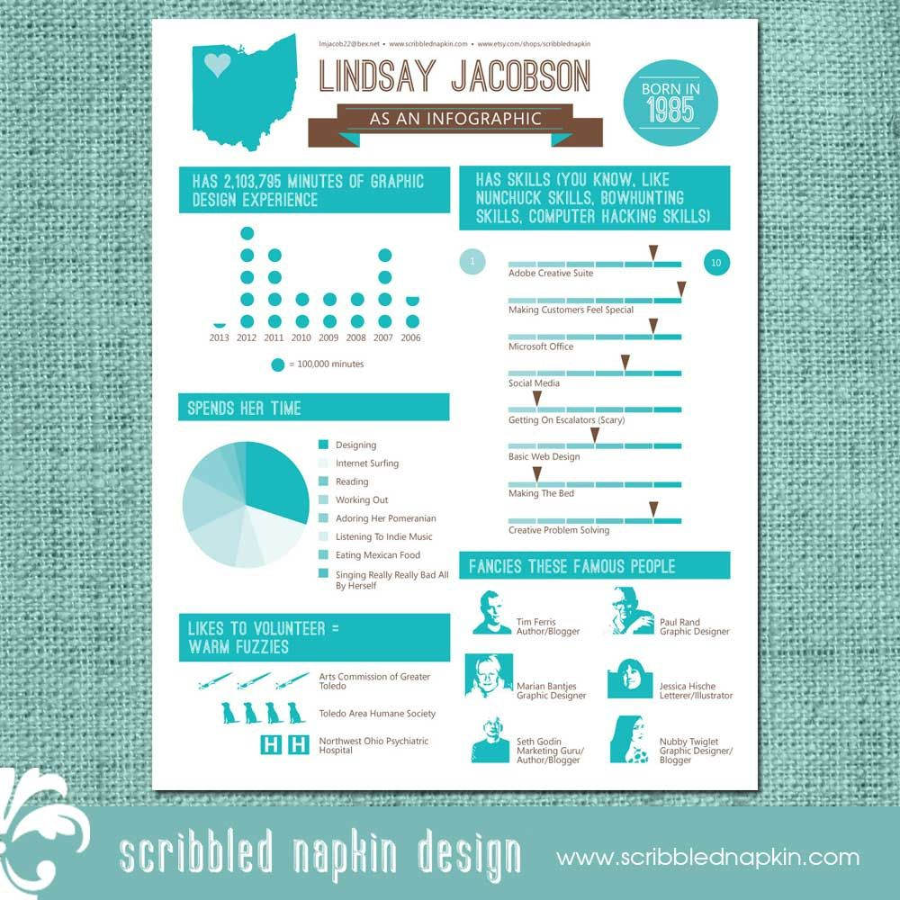 Infographic Resume Infographic Resume Design  Custom Colors Available  Set Yourself