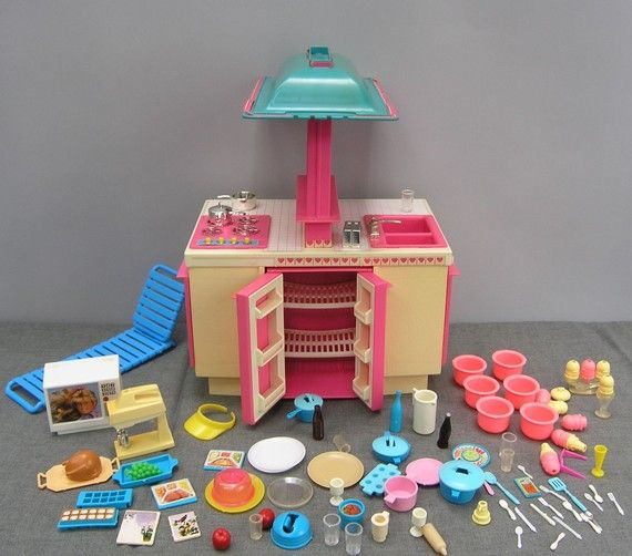 Storewide Sale Vintage 1980s Barbie Kitchen And Lot Of