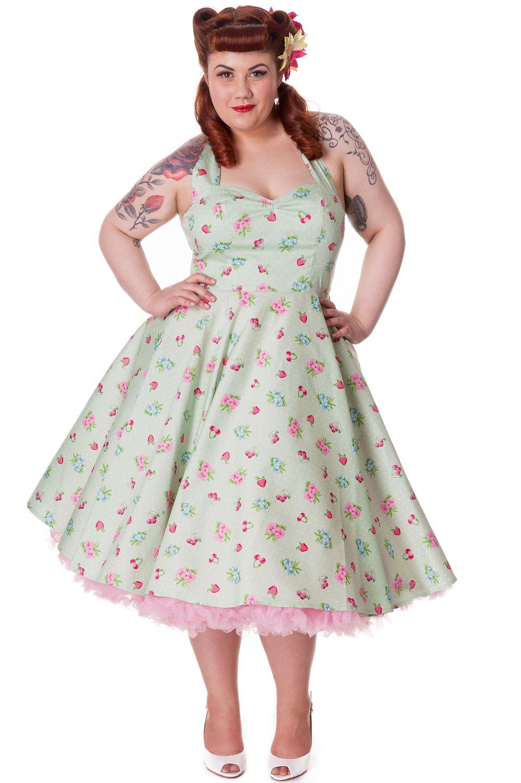 d01fb89614953 Mint Green Bobbi Lee Retro Fruit Dress by Hell Bunny | Melt Away ...