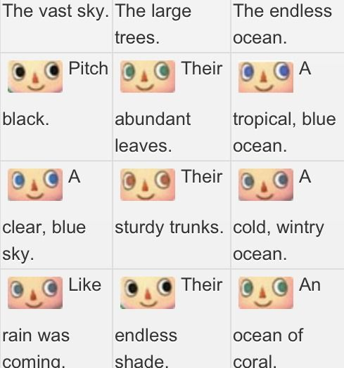 Acnl eye color guide acnl random pinterest for Acnl fish guide