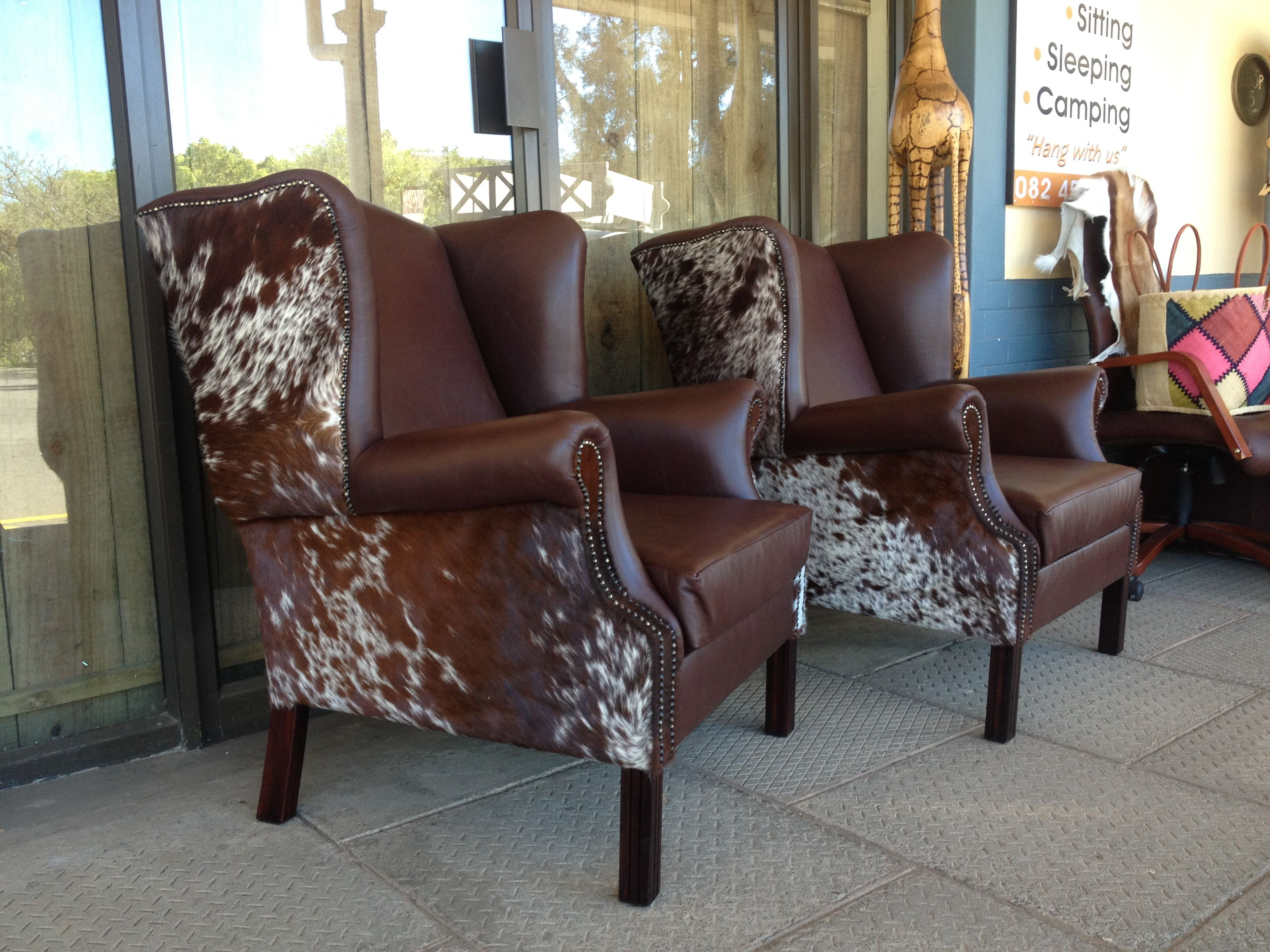 Leather Wingback Chairs South Africa Chair Positions In Dentistry And Nguni Hide From Www