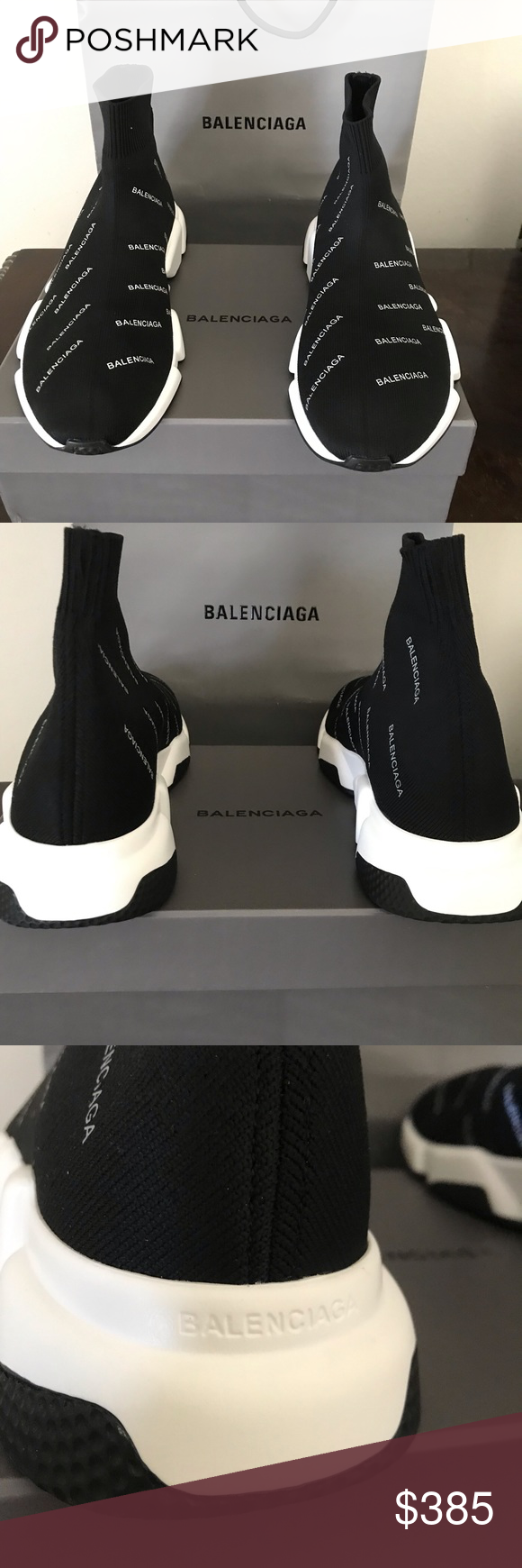 Euro size 45 Balenciaga Speed trainer