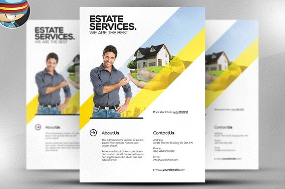 Check out Realtor Flyer Template by FlyerHeroes on Creative Market - sample real estate brochure
