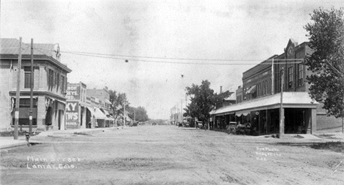 Main Street in Lamar (Prowers County), Colorado 1905-1920