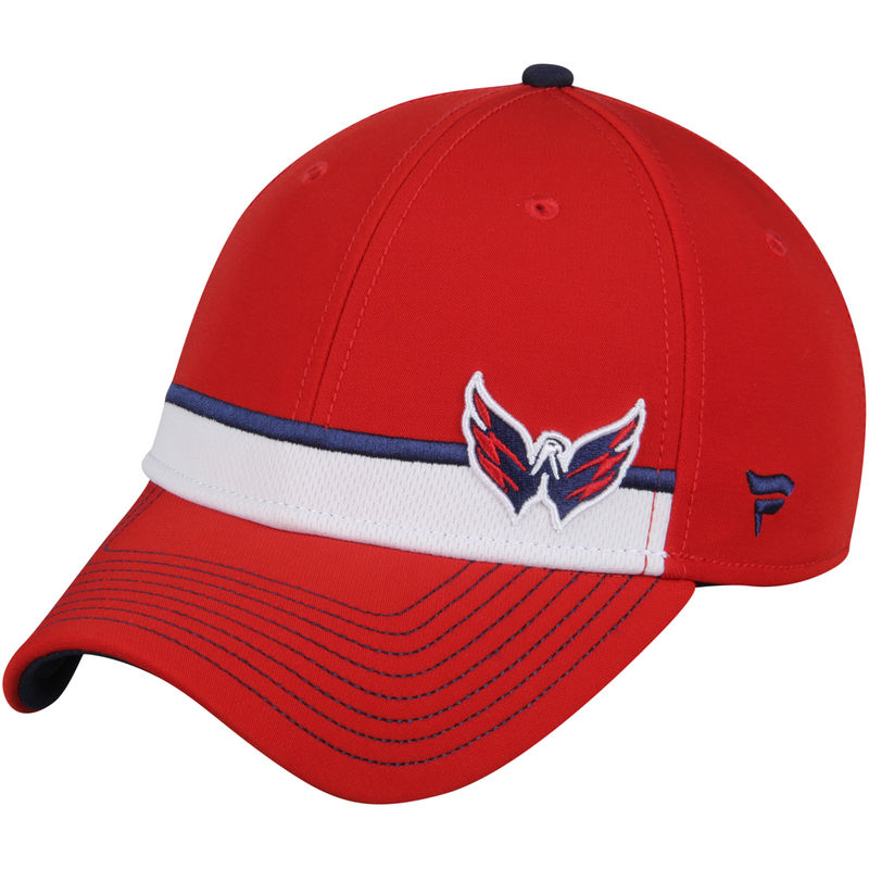 689f8600 Washington Capitals Fanatics Branded Iconic Streak Speed Stretch Fitted Hat  - Red