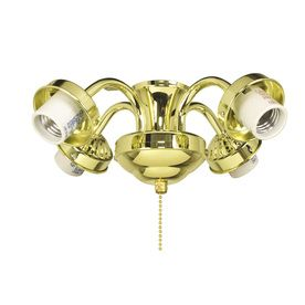 Harbor Breeze 4 Light Bright Brass Ceiling Fan Light Kit With