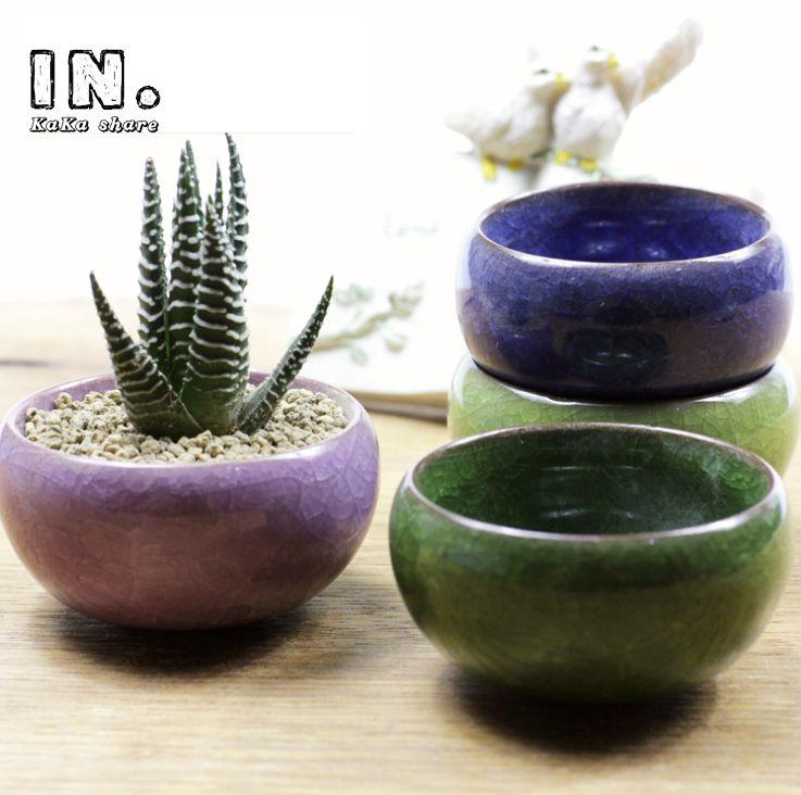 2015 Nouvelle Maison Micro Jardin Décoration Mini Rond Juicy Plantes Fleurs  Vase Pots De Fleurs Conteneurs
