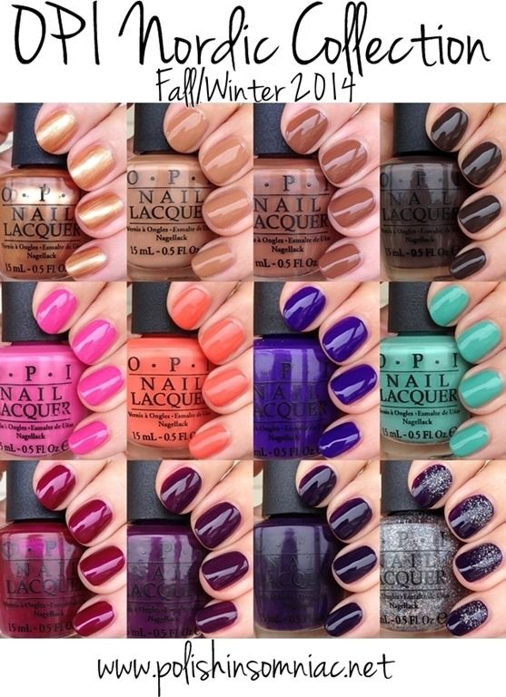 opi nordic collection fall winter 2014 swatches review