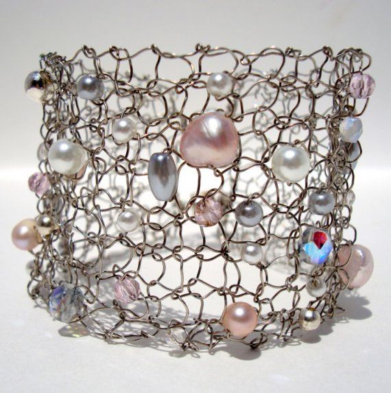 Sweet Pink Pastel Modern Cuff Bracelet