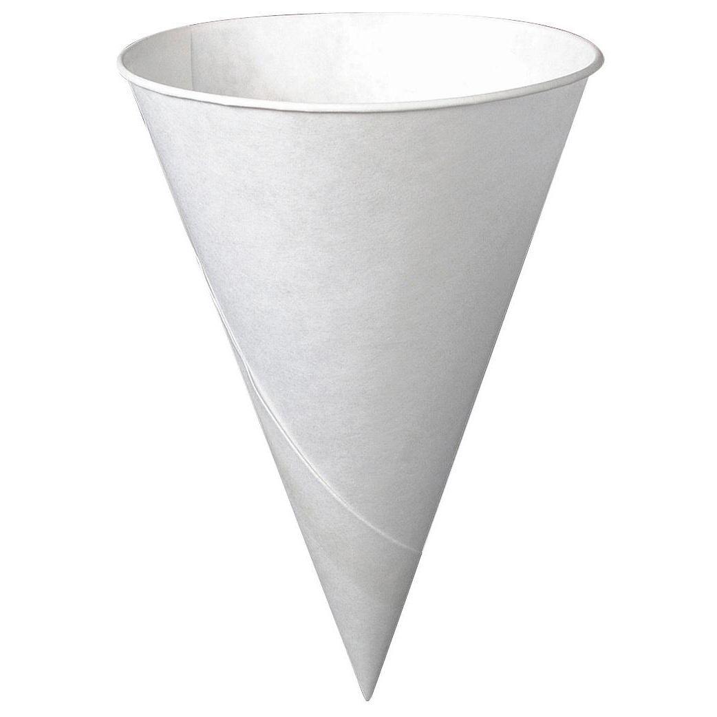 372007379cc Solo 6R-2050 6 Oz White Cone Paper Cups 200-count (Wht Cone Cup 6oz200c)