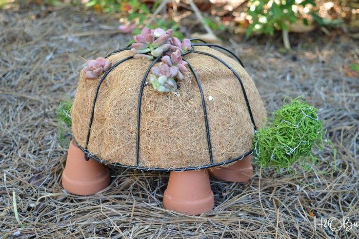 Ausgefallene Gartendeko Selber Machen Upcycling Ideen Diy Deko Schildkröte  Blumenampel