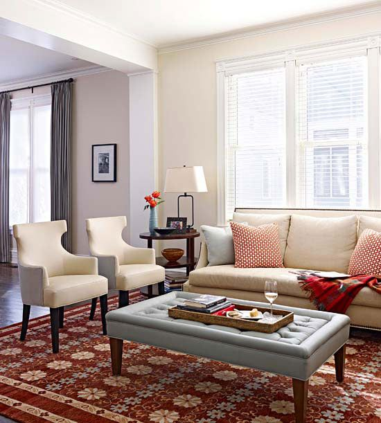 Neutral Color Schemes For Bedrooms: This Neutral Color Scheme Doesn't Overpower This Small
