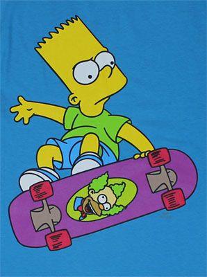 Bart Simpson Riding A Skateboard : simpson, riding, skateboard, Skateboard, Simpsons, Drawings,, Cartoon