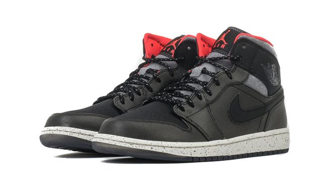 pretty nice 6dd9a b0aff Air Jordan 1 Mid Winterized Black Grey Infrared