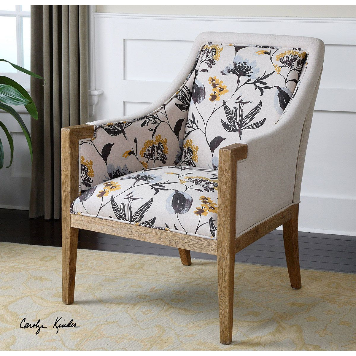 Uttermost Floral Curran Armchair 23134